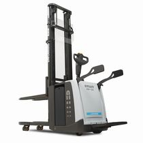 Electric stacker truck / with rider platform / stand-on / for lifting