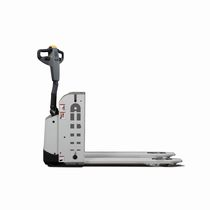 Electric pallet truck / indoor / narrow / for warehouses