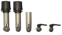 Stop valve / butterfly / manual / pneumatically-operated