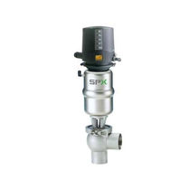Seat valve / piston / pneumatically-operated / for beverages