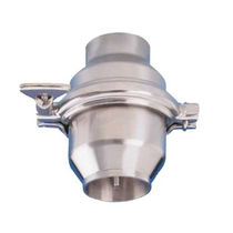 Disc check valve / backflow / stainless steel / spring