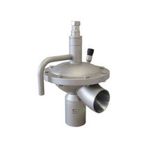 Diaphragm valve / pneumatically-operated / pressure-control / for chemical products