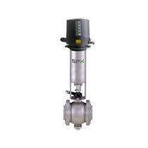 Double-seat valve / ball / pneumatically-operated / mix-proof