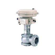 Diaphragm valve / pneumatically-operated / pressure-control / flow control