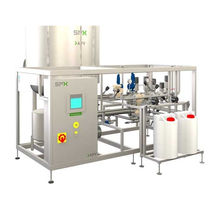 Aseptic tank / for food products / for pasteurization / continuous