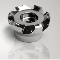 Shell-end milling cutter / with positive insert / face / high-precision