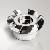 Shell-end milling cutter / with positive insert / face / coated