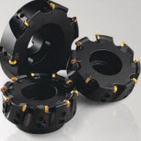 Shell-end milling cutter / insert / face / for stainless steel