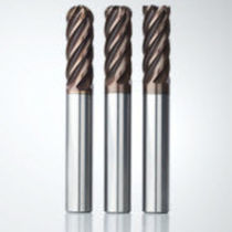 Ball nose milling cutter / corner radius / solid carbide / coated