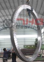 External-toothed slewing ring / three-row