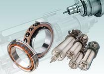 Ball bearing / double-row / angular-contact / steel