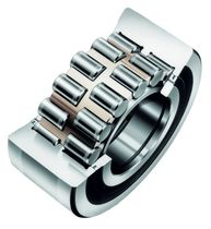 Cylindrical roller bearing / double-row / steel / with snap ring