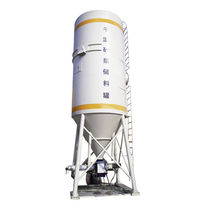 Cone-bottom silo / weighing / for dry mortar
