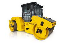 Tandem road roller / articulated / vibrating
