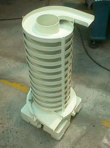 Vibrating conveyor / magnetic / vertical / spiral