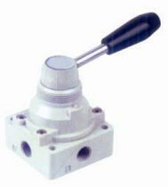 Rotary pneumatic directional control valve / lever-operated / 4/2-way