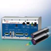 Linear displacement sensor / non-contact / confocal laser / with analog output