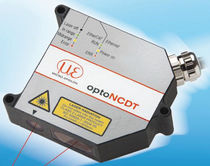 Linear displacement sensor / non-contact / laser / with time-delayed output