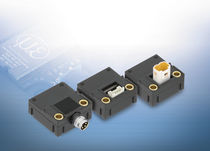 Linear displacement sensor / non-contact / magnetic-inductive / analog