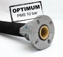 Abrasive fluid hose / for corrosive fluids / suction / elastomer