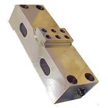 Double-ended shear beam load cell / beam type / steel / for hoppers