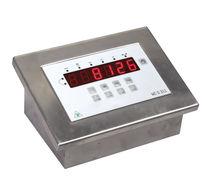 LED display weight indicator-transmitter / panel-mount / IP67 / waterproof