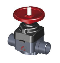 Diaphragm valve / control / manual / plastic