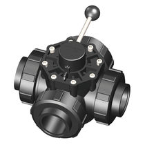 Ball valve / lever / control / 4-way