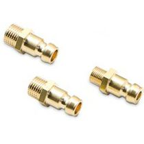 Threaded fitting / hydraulic / straight / stainless steel