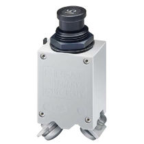 Thermal circuit breaker / single-pole / manual reset / high-performance