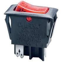Thermal circuit breaker / low-voltage / manual reset / rocker switch type