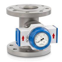 Custom flow meter / stainless steel / in-line / flange