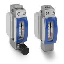 Variable-area flow meter / for gas / metal tube / in-line