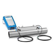 Ultrasonic flow meter / for liquids / metal tube / with display