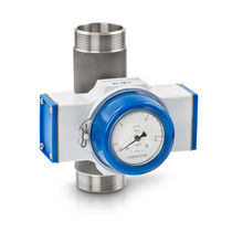 Mechanical flow switch / for liquids / with indicator / stainless steel
