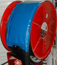Fire hose reel heater