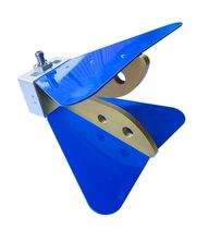 Horn antenna / VHF / double / ridged waveguide