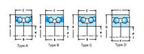 Ball bearing / double-row / angular-contact