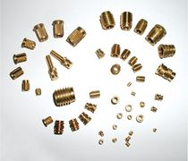 Threaded insert / brass / round / for plastics