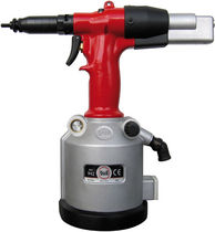 Hydro-pneumatic riveter / for long inserts / floor-standing