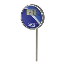 Bimetallic thermometer / digital / insertion / industrial