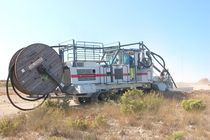 Rockwheel trencher / tracked / ride-on