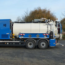 Sewer cleaner truck / suction / water / 3-axle