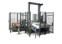 Low level infeed palletizer / layer / case / tray