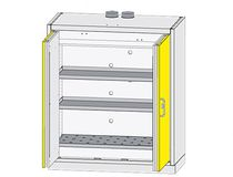 Storage cabinet / benchtop / hinged door / sheet steel
