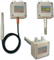 Relative humidity transmitter / duct-mount / wall-mount / with temperature measurement