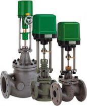 Electrically-operated valve / mixing / for hot water / control