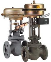 Pneumatically-operated valve / mixing / for water / control
