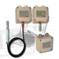 Relative dew-point transmitter / duct-mount / with temperature measurement