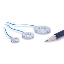 Compression load cell / ring / miniature / piezoelectric